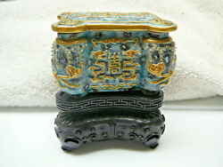 Most Important Chinese porcelain bronze imitation box Qianlong mark and period