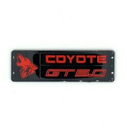 2015+ Ford Mustang - Coyote Dash Plaque - Perfect Fit - Gloss Finish