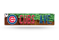 Chicago Cubs Plastic Street Sign 4x16 Cubs Ave Man Cave Baseball Mlb