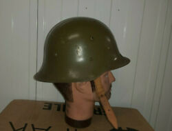 Ww2 Bulgarian M36 Model A Steel Helmet - Cold War Warsaw Pact Collectible