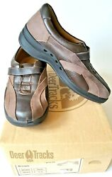 Deer Tracks Womenand039s Loafers Brown Leather Size 5.5m Diabetic Orthopedic Comfort