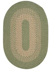 Jackson Palm Bordered Wool Blend Country Farmhouse Oval Round Braided Rug