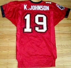 Keyshawn Johnson Tampa Bay Buccaneers 2001 Adidas Team Issued Game Model Jersey