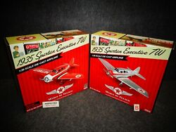 Wings Of Texaco 1935 Spartan Executive 7w Airplane 21 Cp7078 And Cp7079 New
