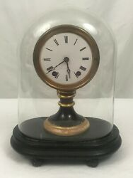 American Candlestick Clock With Dome. Seth Thomas And Sons. Late 19th Century.