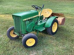 John Deere 110 good for small gardening projects. It is in great shape.