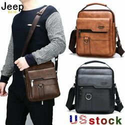 JEEPBULUO Men Leather Messenger Bag Crossbody Shoulder Bag Business Casual Tote $29.59