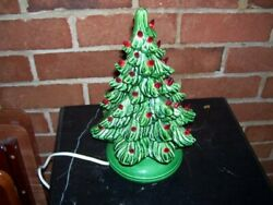 Small Ceramic Christmas Tree With Red Bulbs