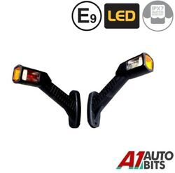 Set Of L And R Led Side Rear Rubber Waterproof Marker Adr Lamps Lights E-marked