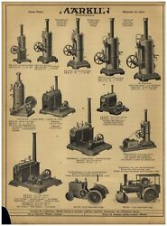 1930 Paper Ad Toys Marklin German Plate Tops Horse Race Mechanical Steam Engine