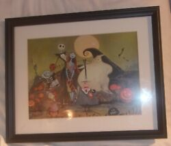 Scarce Small Framed Nightmare Before Christmas Art By Eric Robison Looks Nice