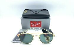 BO NEW AUTHENTIC RAY BAN RB3648 001 HEXAGONAL THE MARSHAL GOLD MADE IN ITALY 7D $56.99