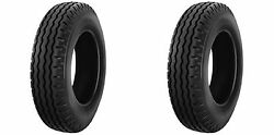 Set Of 2 8-14.5 8x14.5 Lpt Trailer Tires Tubeless Heavy Duty 14 Ply Rated