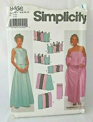 Simplicity 9466 2 Piece Evening Gown Pattern Prom Dress Design Your Own Sz 6-20