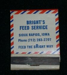 Bright's Feed Service, Sioux Rapids,iowa-supersweet Feeds Matchbook Cover