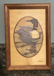 Jeff Nelson Hudson River Inlay Marquetry Loon Marquetry