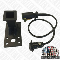 """M998 Humvee Pinball Receiver Hitch + 36"""" Cable """"a"""" Trailer Wiring Harness"""