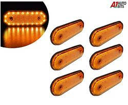 24v Led Oval Clearance Amber Side Marker Lights Position Truck Trailer Lorry X8