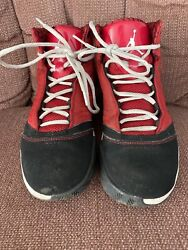Red And Black Jordans Size 7 Youth