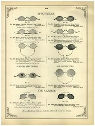 1902 Paper Ad Scenery Specs Spectacles Coquille Plano Convex Eye Glasses
