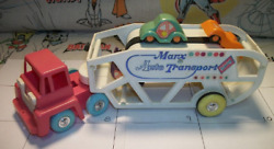 Vintage Marx Auto Transport Toy Truck- 1960's Or 70's Made In Hong Kong