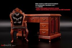 Innocreate 16 Nc-001 Chair Desk 19th Century Solid Wood Furniture Props