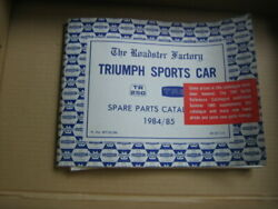Collectible Triumph Tr250 Tr6s Roadster Factor Parts Manual 1984/85