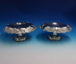 Dominick And Haff Sterling Silver Compote Pair Raised Hand Chased C.1903 4800