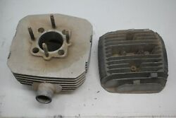 1975 Harley Davidson Amf Sx125 Engine Cylinder Head Cover Needs Cleaned