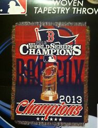 M-7817 Boston Red Sox 2013 World Series Champions Woven Tapestry Throw Blanket