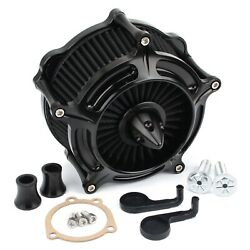 Black Turbine Air Cleaner Intake Filter For Harley Sportster Iron 883 XL1200 48 $84.99