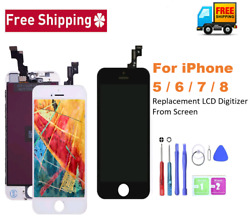 For Iphone 5 6 7 8 And Plus Lcd Display Touch Screen Digitizer Replacement Kit