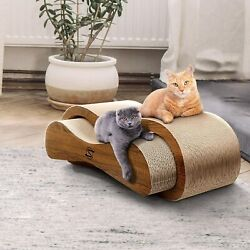 ScratchMe Cat Scratching Post Lounge Relaxing Bed Cat Scratcher Cardboard Catnip