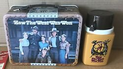 Vintage 1978 How The West Was Won Metal Lunch Box And Thermos