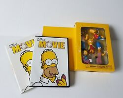 The Simpsons Movie Dvd + Family Figurines Pack 2007 New Without Package