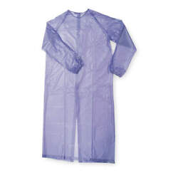 12 Condor Disposable Sleeve Aprons Blue Vinyl Material Sealed Seams 8 Mil 1n856a