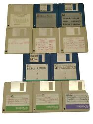 Vintage 11 Sound Disks For The Ensoniq Mirage - Metal And More