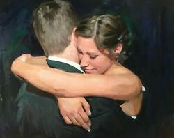 Commission Wedding Oil Portrait On Canvas Custom Painting From Photo