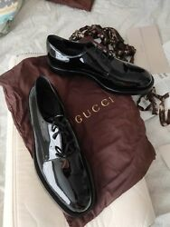 Menand039s Patent Leather Horsebit Loafer Shoes Black Sz 10
