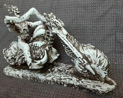 Ghost Rider In Flames Artwork Statue Made Of Resin And Fiberglass Materials