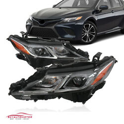 Fits Toyota Camry 2018-2020 L/le/se Headlights Headlamps Factory Pair Lh Rh