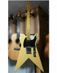 Rare Indy Fly Caster In Tv Yellow 6 Strings Electric Guitar Shipped From Japan