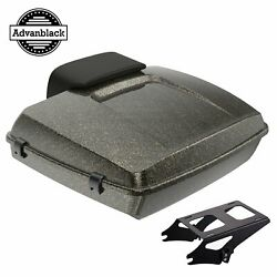 Hard Candy Black Gold Flake Razor Tour Pack Trunk Luggage For Harley 1997-2020