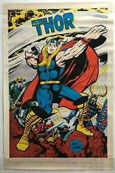 Mighty Thor Poster Jack Kirby Art Marvelmania 1970 Rare Mail Order Only