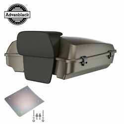 Advanblack River Rock Grayglossy Razor Tour Pack Trunk Luggage For 97+ Harley