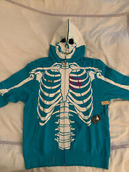 Lrg Lifted Research Group Dead Serious Hoodie - Turquoise Xl