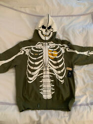 Lrg Lifted Research Group Dead Serious Hoodie - Olive Xl