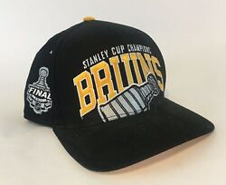 Boston Bruins Black Nhl 2011 Stanley Cup Throwback Spell Out Snap Back Hat