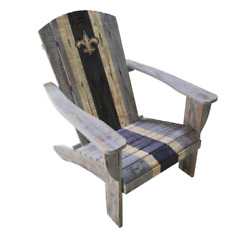 New Orleans Saints Chair Nfl Wooden Adirondack Chair Outdoor Patio Furniture