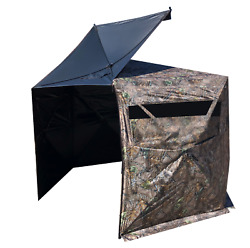 4 PERSON HUNTING BLIND HEXAGON SHAPED
